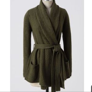 Anthropologie sparrow  green hindsight cardigan S